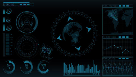 Animation Technology Screen stock footage