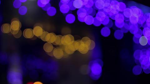 4K Bokeh Lights / Yellow-Purple Bokeh / Bokeh Background Stock Video Footage