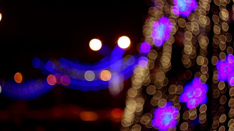 4K Christmas Bokeh Footage