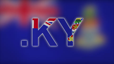 4K KY - Internet Domain of Cayman Islands Footage