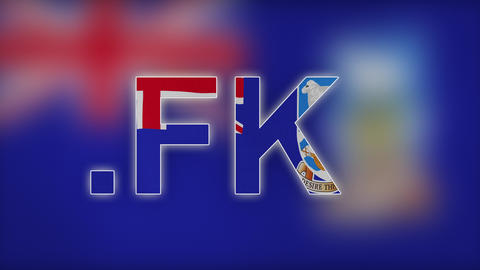 4K FK - Internet Domain of Falkland Islands Footage