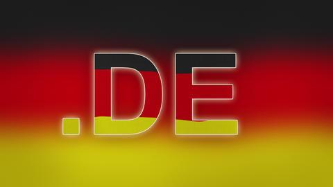 4K DE - Internet Domain of Germany Footage
