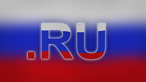 RU - Internet Domain Of Russia stock footage