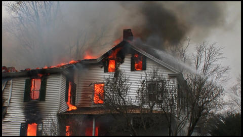 housefire and firefighters 5 6 Footage