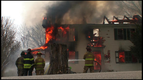 housefire and firefighters 3 6 Footage