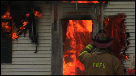 housefire and firefighters 4 6 Footage