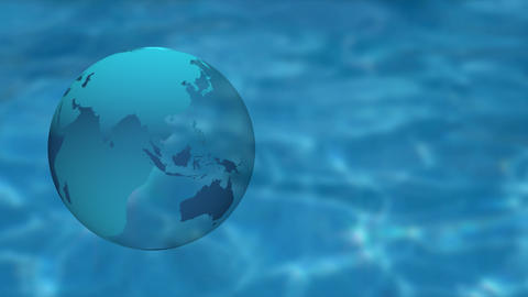 3DCG Earth and water background ビデオ