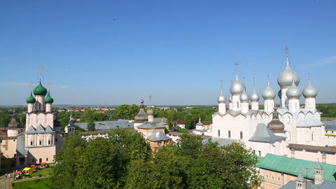 Kremlin in ancient town Rostov the Great, Russia Footage