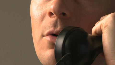 man speaking phone Footage