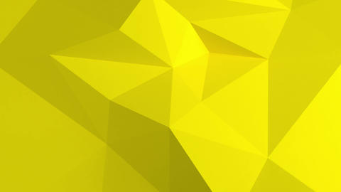 Abstract 3d background with polygonal pattern. Yellow color Animation