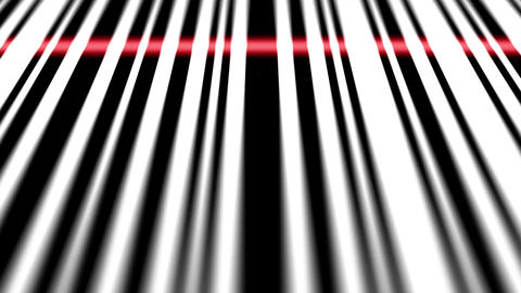Closeup of scanning barcode. Depth of fields Animation