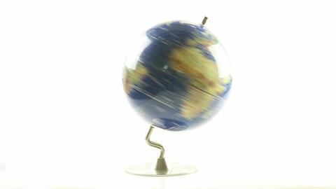 World Globe Spinning 4 stock footage