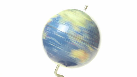 World Globe Spinning Close Up 4 stock footage