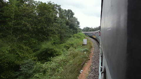 View Of The Field From The Train stock footage