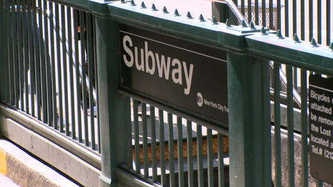 subway station entrance Footage
