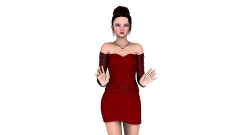 ドレスを着た女性 Animation
