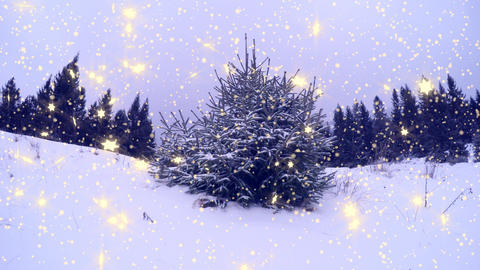 4k, New Year,christmas,3d winter background Animation