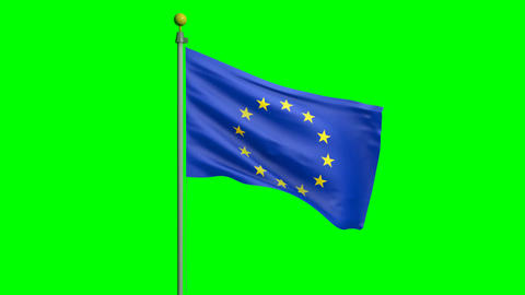 Waving European Union flag Animation