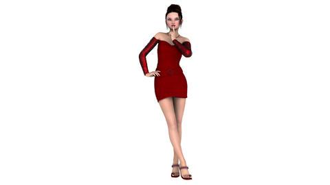 ドレスを着た女性 stock footage