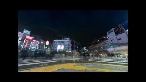 Time lapse in Shinjuku Tokyo Japan Footage