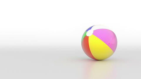 Spinning beach ball. (loop ready file) Animation