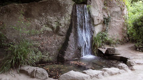 Waterfall In Vorontsovsky Park stock footage