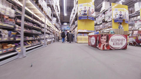 Buyers in the supermarket Footage