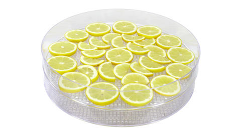 Time-lapse of drying lemon fruit 1x3 (UHD 4K) Footage