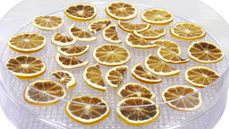Time-lapse of drying lemon fruit 1a2 (UHD 4K) Footage