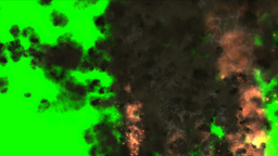 Explosion , Fragments , Black Smoke On Green Screen stock footage