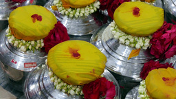 4K Ultra HD video of milk pots and garlands on Thaipusam day Footage