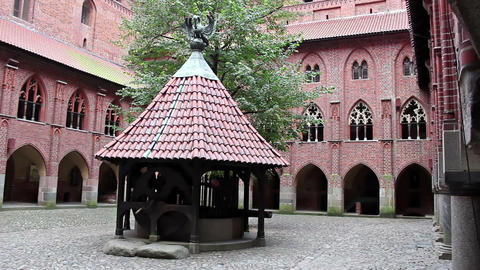 Left pan of the courtyard of Upper Castle - The Well Footage