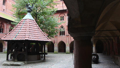Right pan of the courtyard of Upper Castle - The Well and double barrel vault Footage