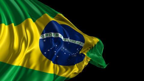 Flag of Brazil Animation
