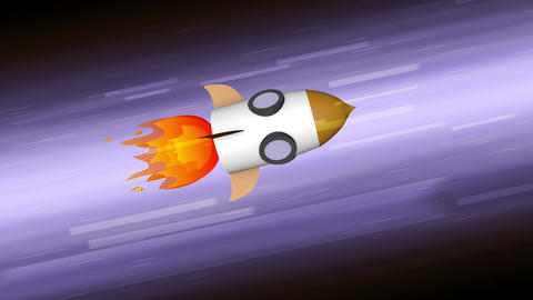 Rocketship stock footage