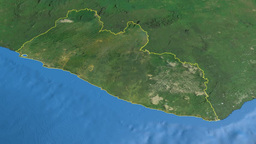 Liberia, glide over the map, outlined Animation