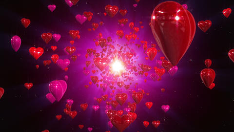 Hearts loopable background Animation