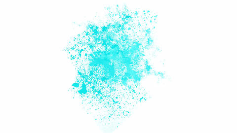 splash blue ink.Mirage,hallucinations,dust,particle,symbol,dream,vision,idea,creativity,vj,beautiful Animation
