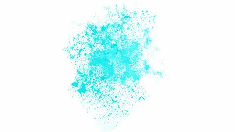 splash blue... Stock Video Footage