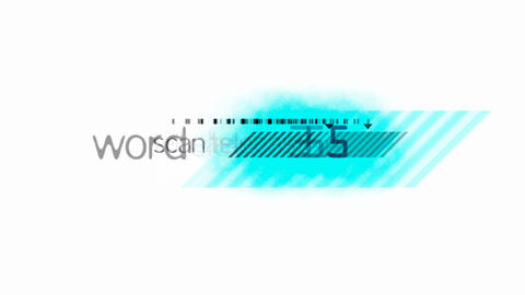 abstract words and blue stripe... Stock Video Footage