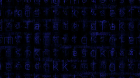 blue alphabet matrix background,letter,computer... Stock Video Footage