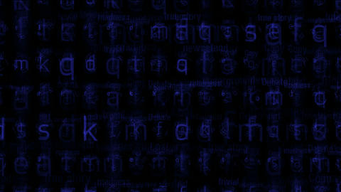 blue alphabet matrix background,letter,computer screen,tech,web.spelling,education,exams,school,book Animation