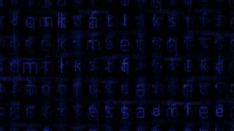 blue alphabet matrix background,letter,computer... Stock Video Footage