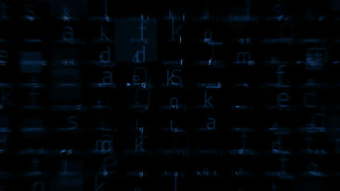 letter matrix background,alphabet,computer... Stock Video Footage