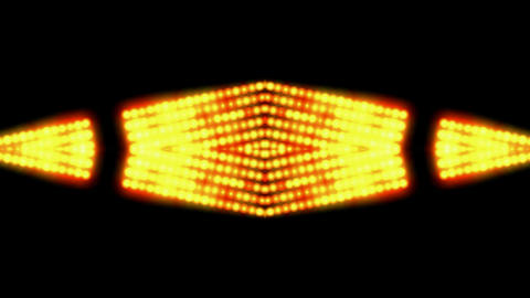 flare golden beads shaped neon light,sunlight,stage... Stock Video Footage