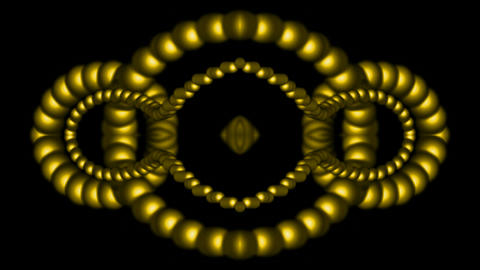 3d golden metal beads shaped... Stock Video Footage