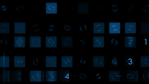 blue figure and square,stock ticker,business number background.Mathematics,computing,science,probabi Animation