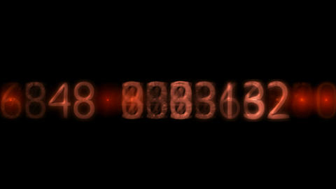 red plastic number and light,business figures Stock Video Footage