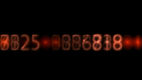 red plastic number and light,business figures Animation