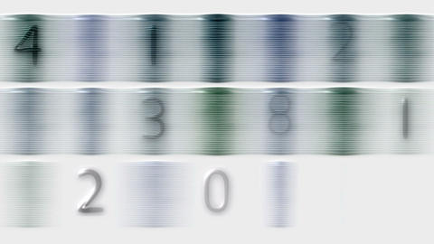 3d plastic figure and stripe,stock ticker,finance number... Stock Video Footage